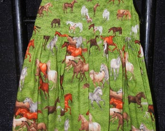 Horse Print Dress-Mother/Daughter/Doll