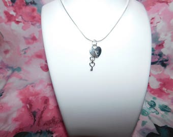 VALENTINES Key to my heart - Handmade necklace