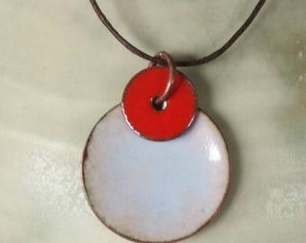 light blue enamel pendant