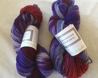 Red Sky worsted weight yarn