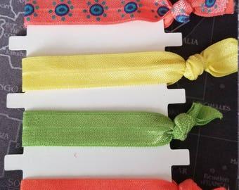 Summer Fun Neon Hair Elastics