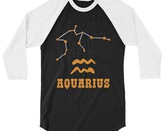 Aquarius Constellation Raglan Shirt