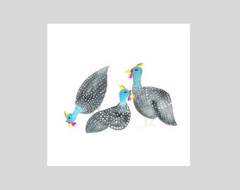 Card - Guinea Fowl