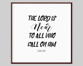 Psalms 145:18 Scripture Canvas Wall Art - The Lord is near to all who call on him