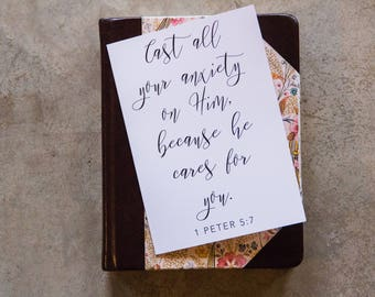 1 Peter 5:7 Scripture Card