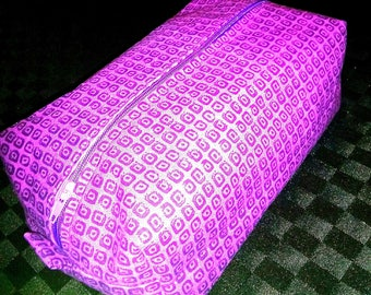 Purple cosmetics bag