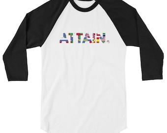 ATTAIN. - Everybody 3/4 Sleeve T-shirt