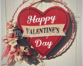 Happy Valentine's Day Wreath