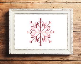 Snowflake II Cross Stitch Pattern (Digital Download)