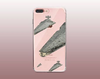 Star Destroyer Clear TPU Phone Case for iPhone 8- iPhone 8 Plus - iPhone X - iPhone 7 Plus-iPhone 7-iPhone 6-iPhone 6S-Samsung S8