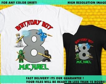 Ninjago / Iron On Transfer / Ninjago Boy Birthday Shirt Transfer DIY / High Resolution / For Any Color T Shirt / 12 Hours Turnaround Time