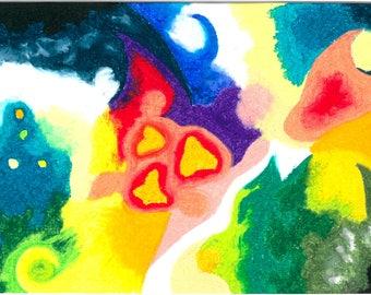 Nightmare pastel oil 21x29.7 cm