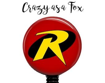 Robin Retractable Badge Holder, Badge Reel, Lanyard, Stethoscope ID Tag, doctor, md, pa, cna  Nurse, rn, teacher, student  Gift