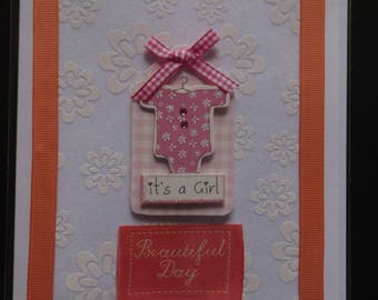 Handmade card - New Baby