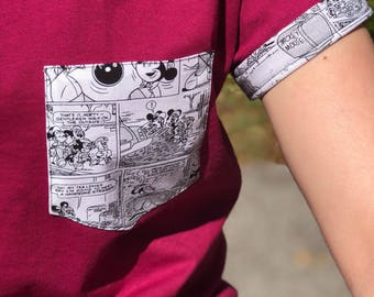 Mickey Comic Pocket Shirt