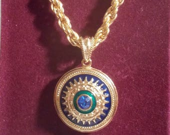 "Exquisite Camrose and Kross ""Jackie Kennedy"" Pendent/Necklace"