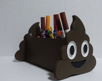 Poop Emoji caddy