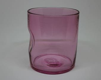 Ruby Dimple Whiskey Glass