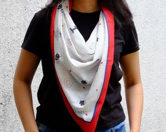 MonoMonster Scarf, Soft Voile Printed Scarf for Woman