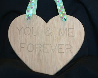 "WOODEN HEART ""You and Me Forever"""