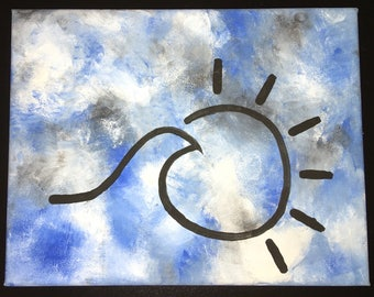 Sun and Wave canvas painting