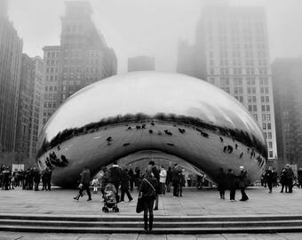 "Digital Photograph Taking in Cloud Gate ""The Bean"" Chicago"