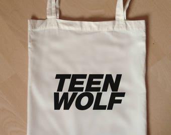 teen wolf tote bag