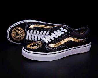 Vans Old Skool Custom Versace Women Sneakers Size 7, Euro 37