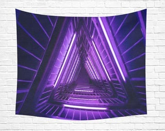 "Triangle Staircase Wall Tapestry 60""x 51"""