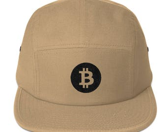 Bitcoin BTC Cryptocurrency Five Panel Cap Hat