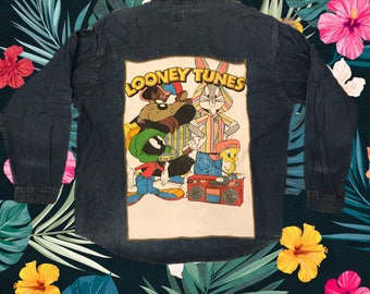 Looney Tunes Denim Jacket with Patch