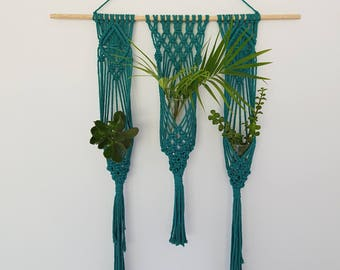 OCEAN Three Tier Macrame Plant Hanger with Hook Cover