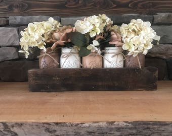 Decorative Mason Jar Centerpiece Box
