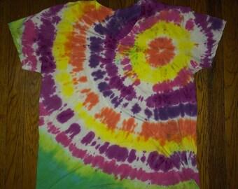 Sunburst Tie Dye V-Neck