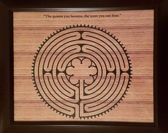 Labyrinth - Framed, Finger Labyrinth, Meditation, Stress Relief, Spirituality, Art, Decoration