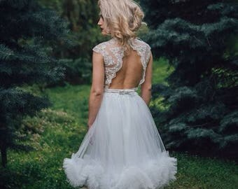 romantic dress / feminine dress /holiday dress /pastel color dress/ girly dress