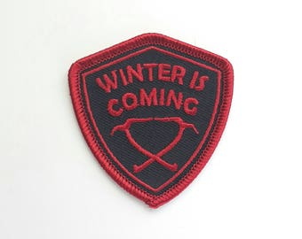 Winter is Coming Embroidered Patch