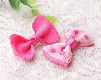 bowknot flower bowknot 4pcs 41*26mm pink bowknot cute fashion bow ties for baby girls hair accessories or baby clothes