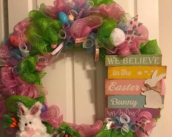 Easter Wreath, Spring Wreath, Bunny Wreath