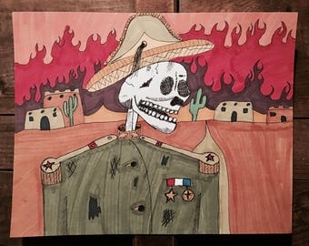 Army Skull Drawing