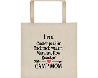 Camp Mom Camping RV Glamping Summer Camp Counselor Tote bag
