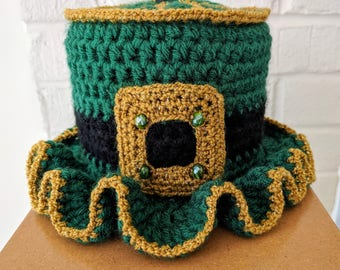 Irish Toilet Paper Tissue Roll Hat Cover Bathroom Decor St. Patrick's Day Shamrock L