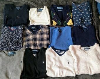 Lot of 12 Ralph Lauren Sweater Vest - Men's L/XL Used Very Good Condition