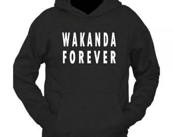 Black panther inspired Wakanda Forever hoodie