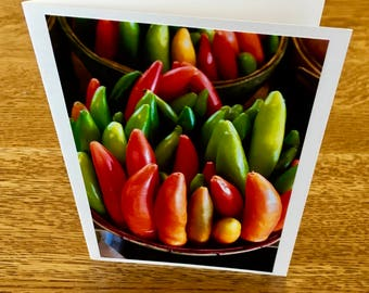 Peppers Photo Card