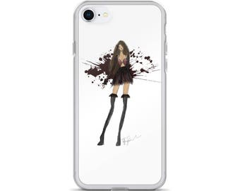 VAMPS & FEATHERS Fashion Couture Illustration iPhone Case
