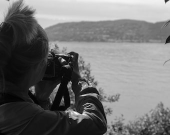 Black and White Woman Photographer