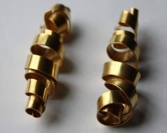 Plated Lee Curl Earrings