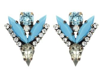 """Tova """" Minnie"""" V shape swarovski crystal studs"""