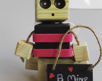 Koob wooden Bumble bee pink